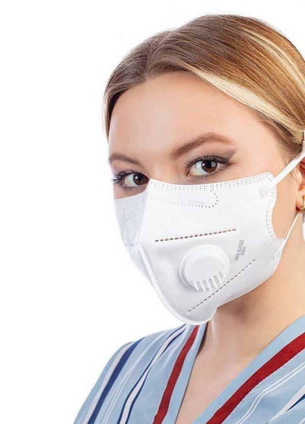 Респиратор KN95 Gauze Mask с клапаном (FFP2)